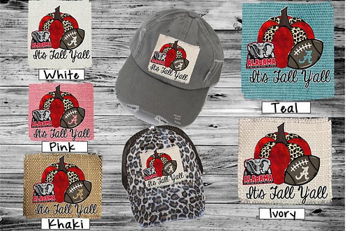 Sublimated Trucker Hats College Football It's Fall Y'all NAME YOUR TEAM