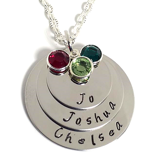 Triple Personalized Name Necklace or Bracelet
