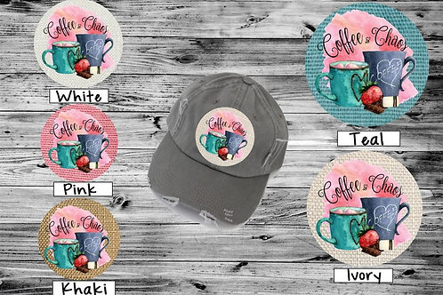 Sublimated Trucker Hats Many Colors Coffee and Chaos