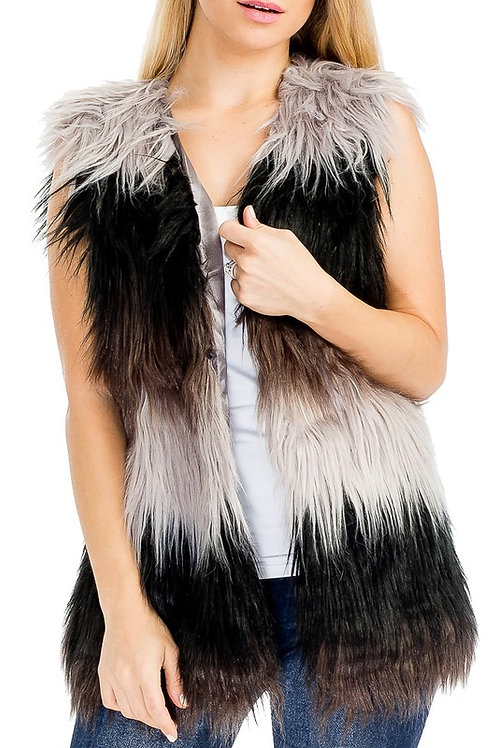 Faux Fur Vest High Quality Many Colors