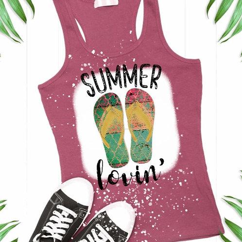 BLEACHED TANK TOP or TEE Summer Lovin