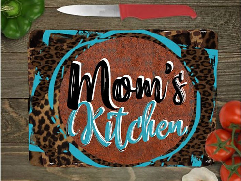 SUBLIMATED Glass Cutting Board Personalized SMALL or LARGE Rusty Brown