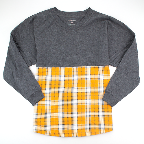Boxercraft Pom Pom Jersey Adult or Youth Plaid Gray/Yellow