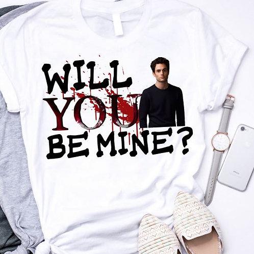 SUBLIMATED TEE Short or Long Sleeve Valentine's Will YOU be Mine
