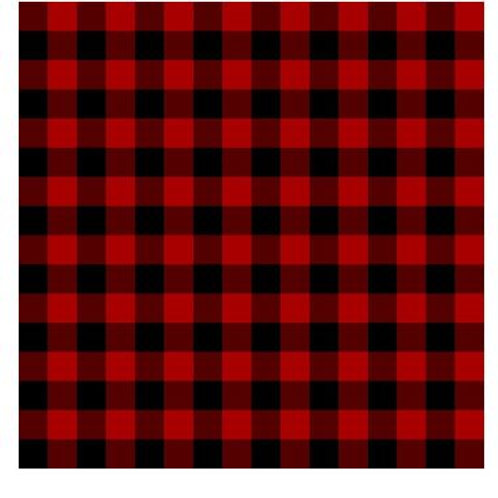 "Buffalo Red Plaid Heat Transfer Vinyl 12""x12"" Sheet"