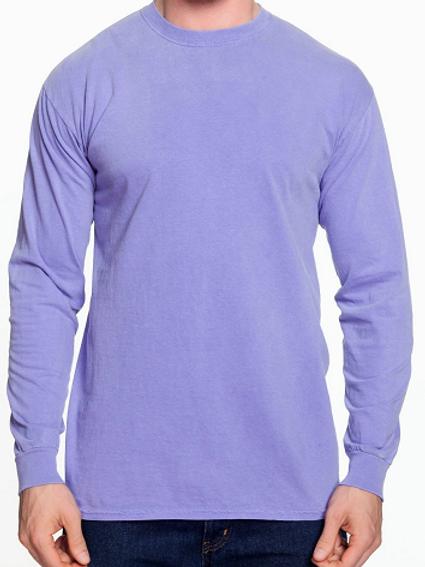 Comfort Colors Unisex Adult Long Sleeve Tee Violet