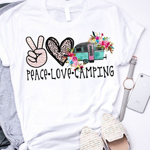 SUBLIMATED TRANSFER ONLY Peace Love Camping