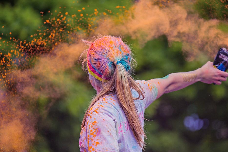 Mädchen in Farbe Run