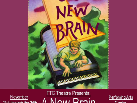 """FTC THEATRE PRESENTS """"A NEW BRAIN"""" THIS WEEK"""