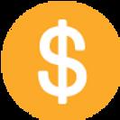Yellow Circular Dollar Sign