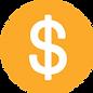 Amarillo circular la muestra de dólar