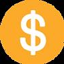 Amarelo Sinal de dólar Circular