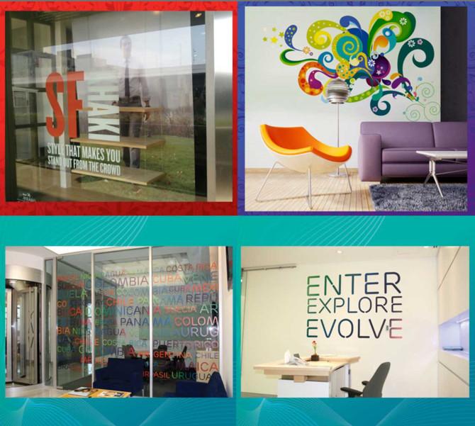5 ventajas de utilizar vinilos decorativos en tu oficina, hogar o negocio.