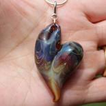 Hearts of glass handmade boro heart pendant