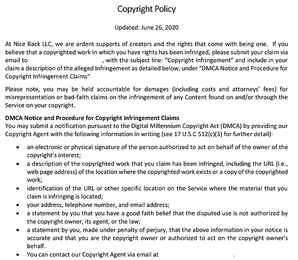 CAPE SQUAD APP COPYRIGHT POLICY