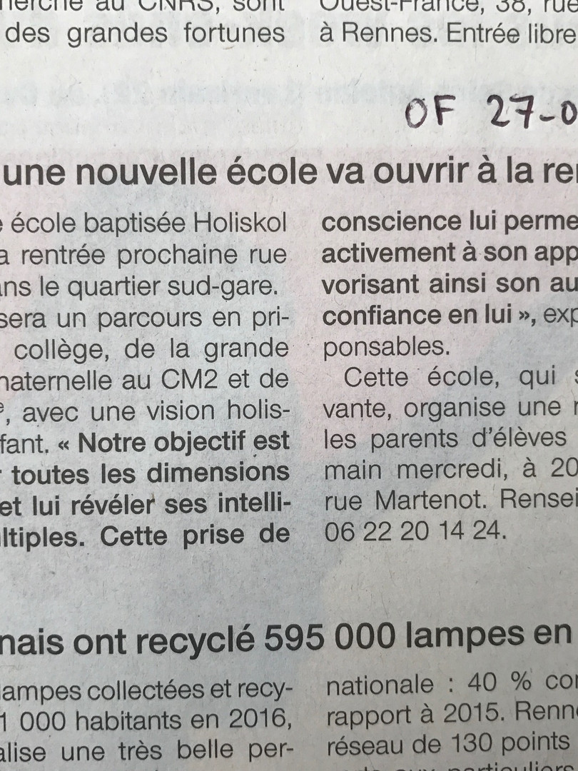 Ouest France 27/06/17