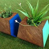 Colored Wood Planters