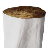 Tree stump with gold stool
