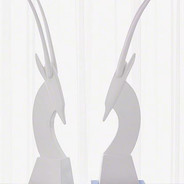 Gazelle Statuary with metal base