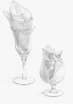 グラスとナプキン