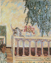 735px-Pierre_Bonnard_-_Cats_on_the_Raili