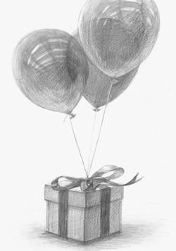 プレゼントと風船