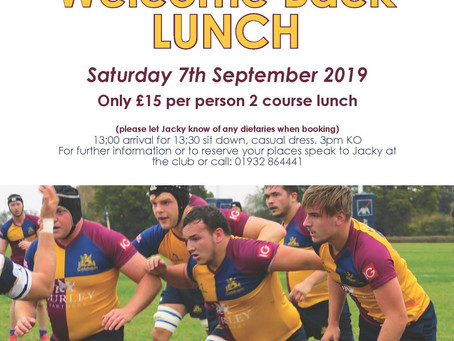 Welcome back lunch - 2019