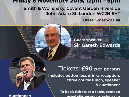 Join Sir Gareth Edwards @ our City Lunch
