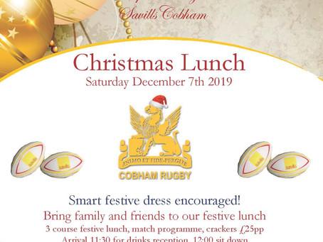 Cobham Christmas Lunch 2019