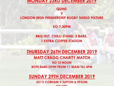 Festive Rugby @ Cobham 2019