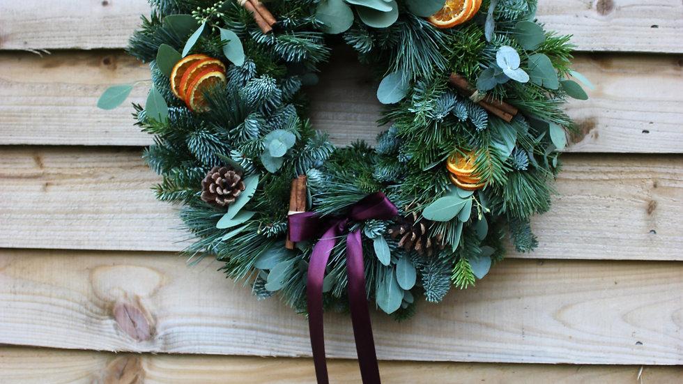Classical Pine and Eucalyptus Christmas Wreath
