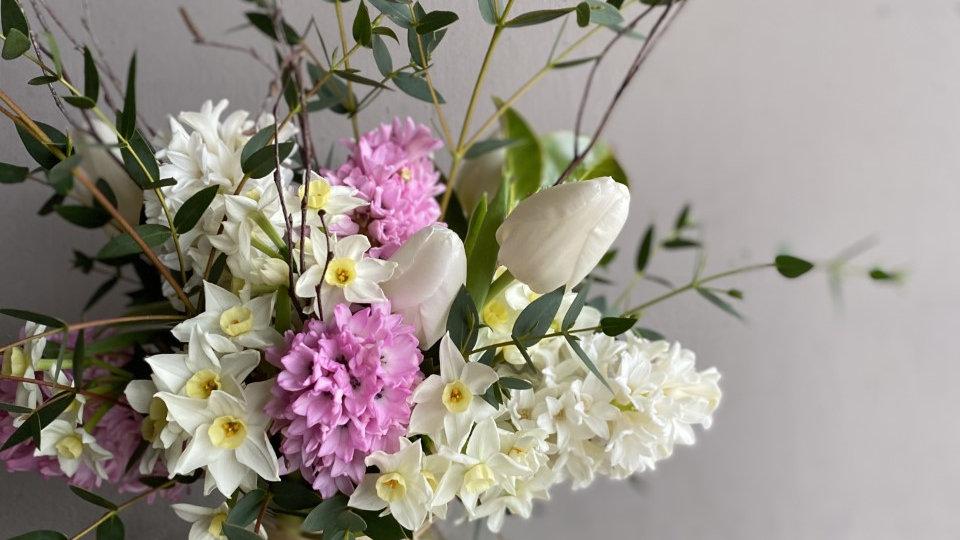 Medium Hyacinth and Tulip Vase