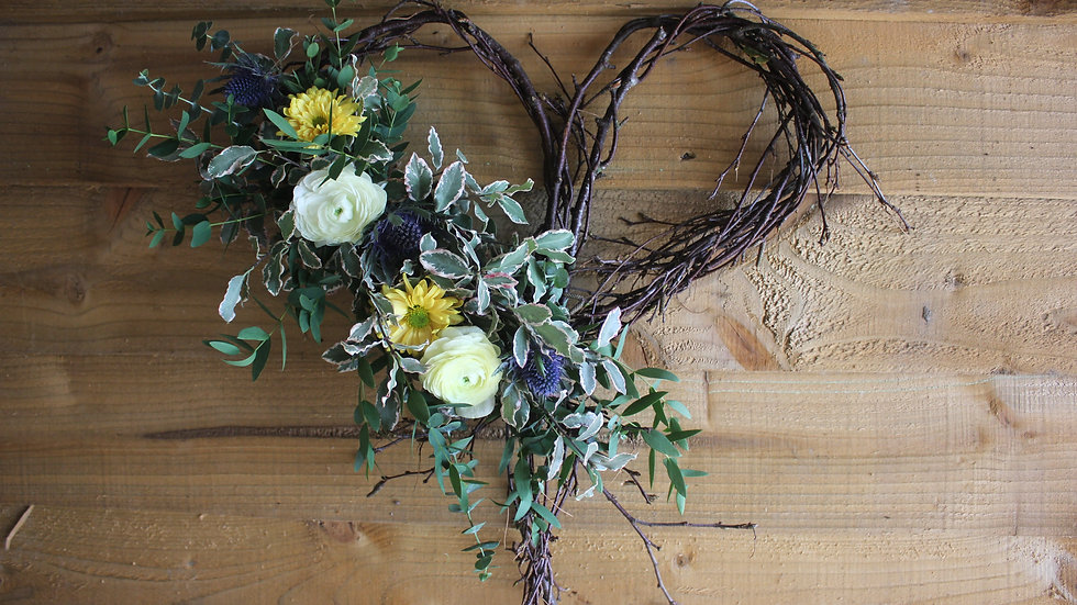 Heart Graveside Wreath