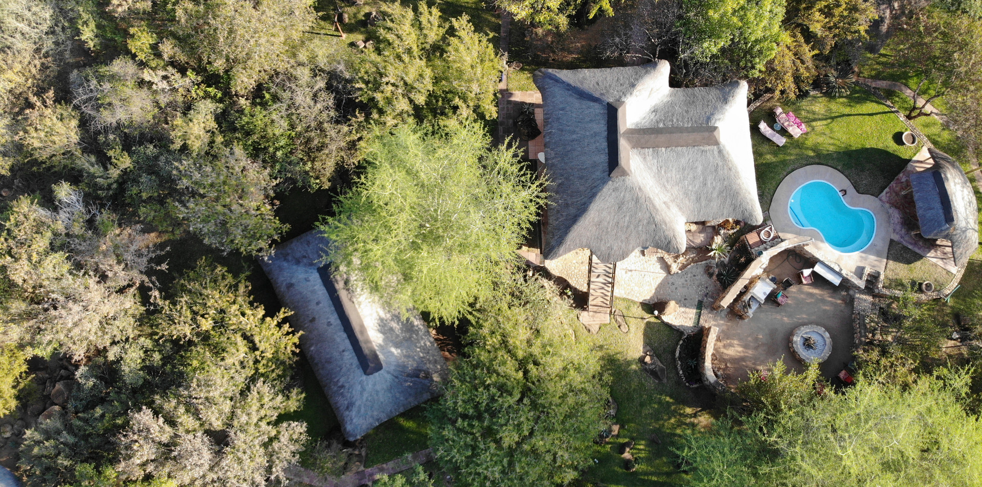 helicopter view of our lodge