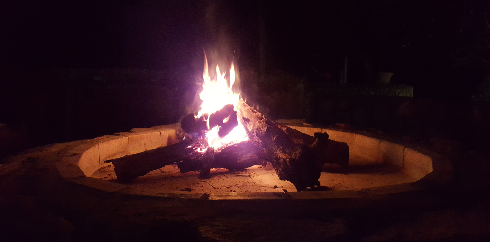 Fire pit at the boma