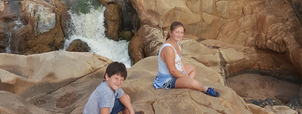 Waterfall hike at Ndlovumzi