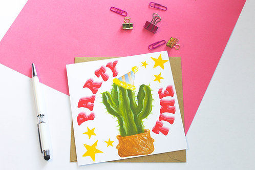 Party Cactus Greeting Card