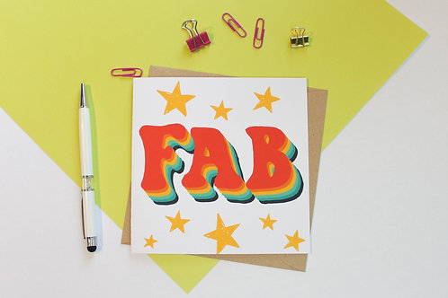 Retro FAB Greeting Card