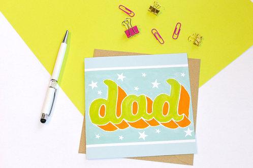 Groovy Dad Greeting Card