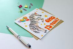 Personalised Zebra Birthday Card with Ag
