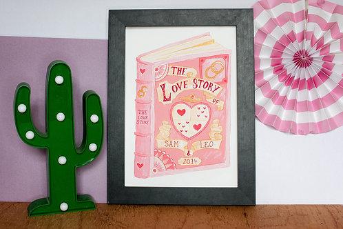 Personalised Love Story Print