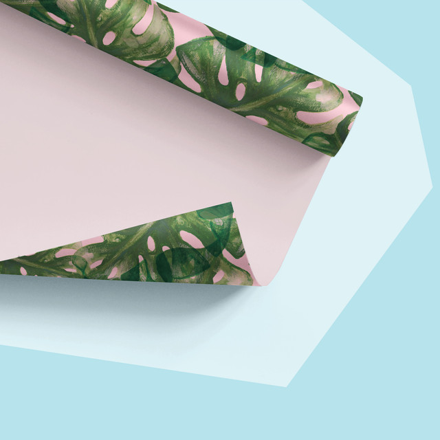 Tropical Leaf Pattern (on Wrapping Paper)