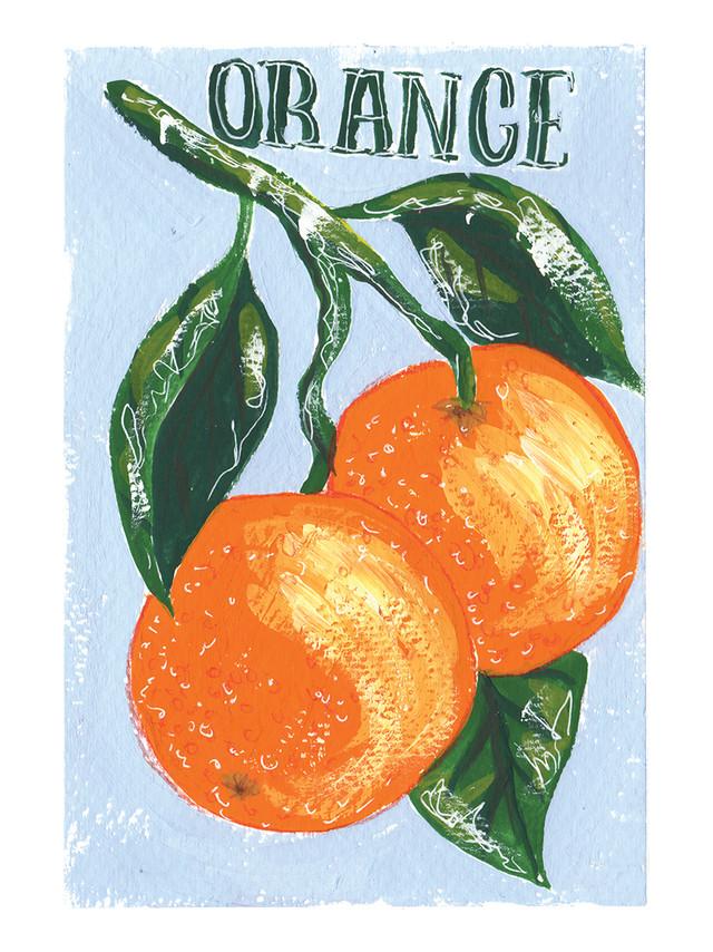 Gouache Oranges