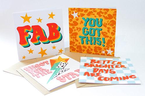 Positivity Greeting Card Bundle (4 Cards)