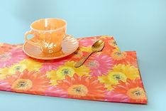 flower power 70s tea towel baking gift c