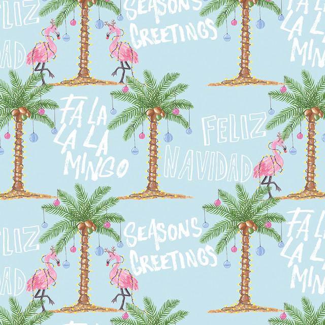 Tropical Christmas Collection 2019: Seasons Greetings Flamingo