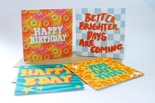Mixed Greeting Card Bundle (4 Cards)