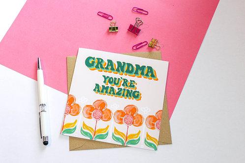 Grandma You're Amazing Greeting Card