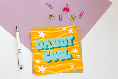 Daddy Cool Retro Father's Day Greeting Card