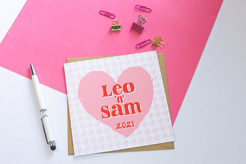 Personalised Couples Anniversary Greeting Card
